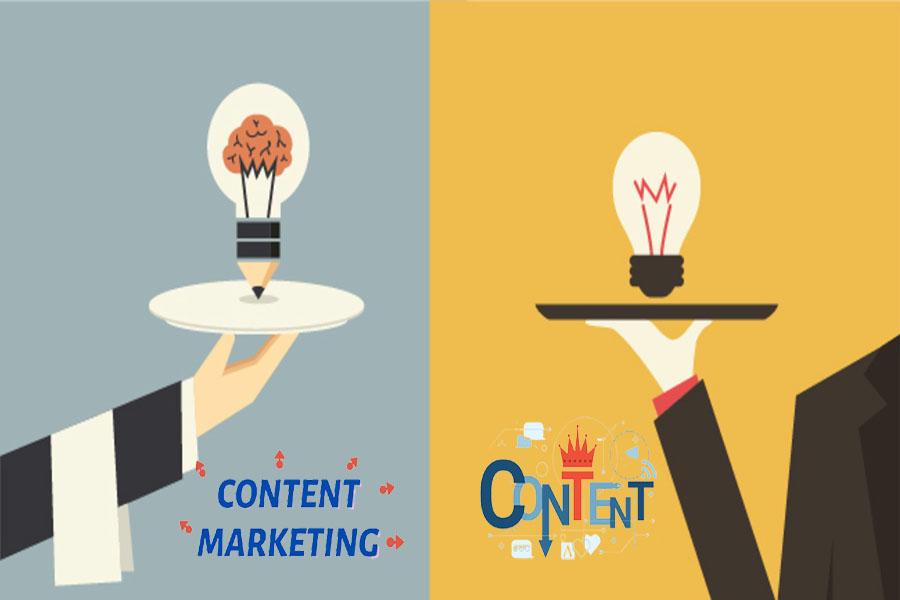khác nhau giữa content marketing