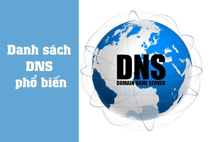 danh sách DNS phổ biến