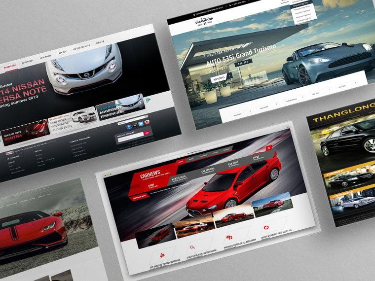 thiết kế website bán xe hơi chuyên nghiệp
