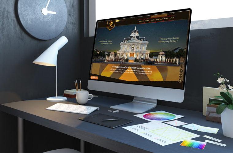 công ty thiết kế website xây dựng
