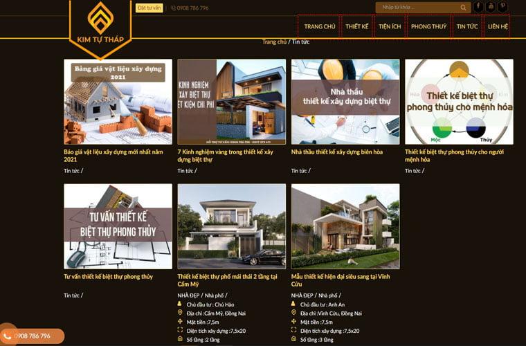 công ty thiết kế website xây dựng chuyên nghiệp