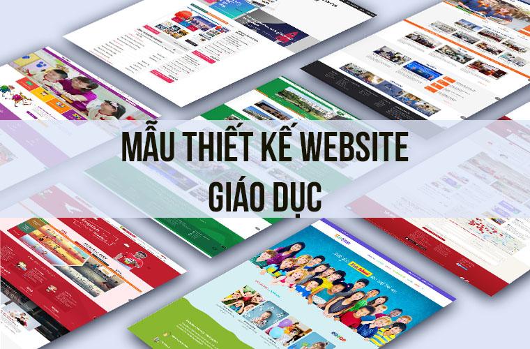 mẫu thiết kế website giáo dục