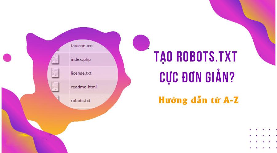 hướng dẫn tạo robots.txt