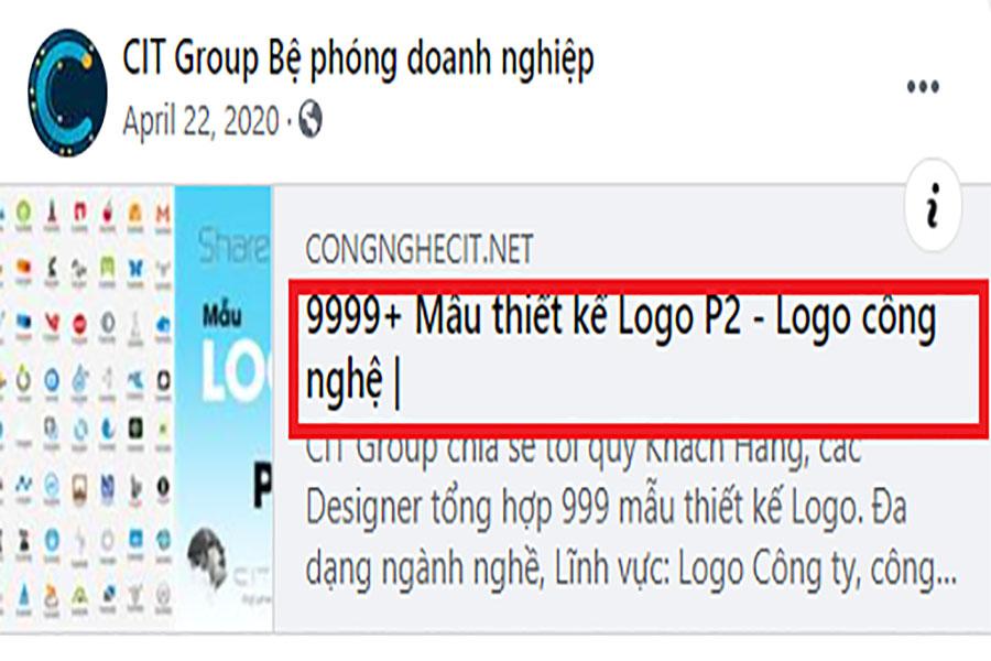 tiêu đề seo trên facebook