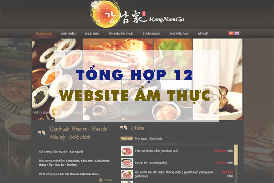 Top 12 website ẩm thực nhiều người dùng nhất hiện nay