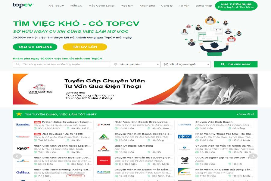 website-tim-viec-topcv